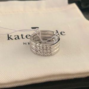 NWT Kate Spade Full Circle Ring Set 7